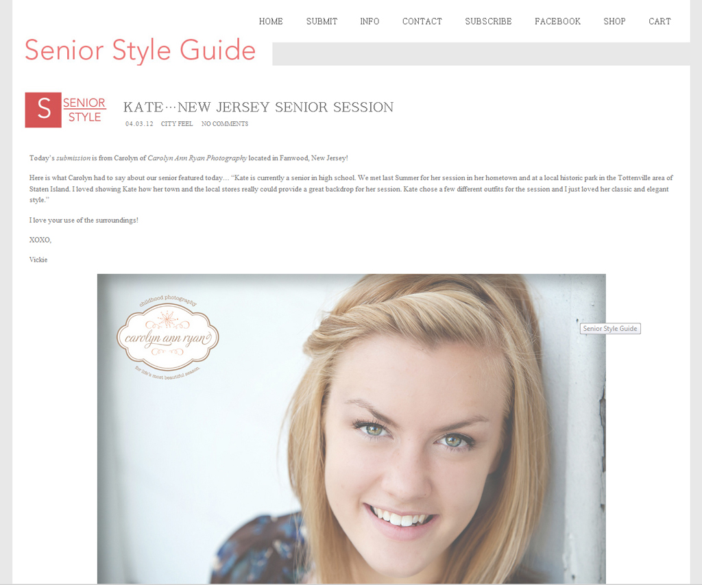 Charlotte, NC Senior Portrait Photographer | Published! {Senior Style Guide}