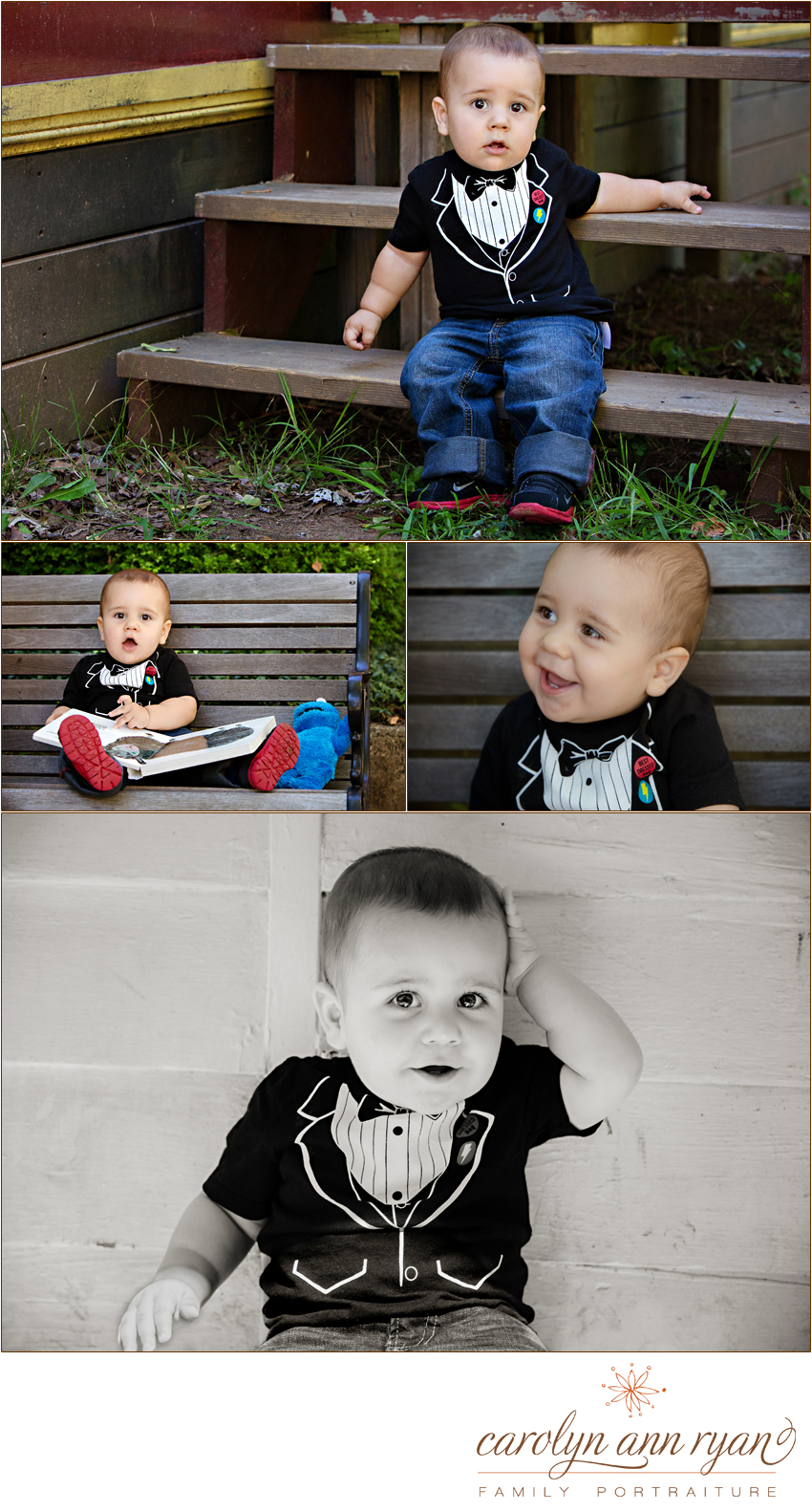 Weddington, North Carolina Child Photographer Carolyn Ann Ryan photographs an adorable little man