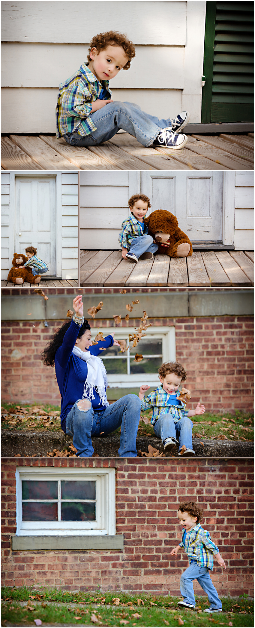 Playful Marvin, North Carolina Family Photographer Smiles Giggles and Fun with Mom and Son