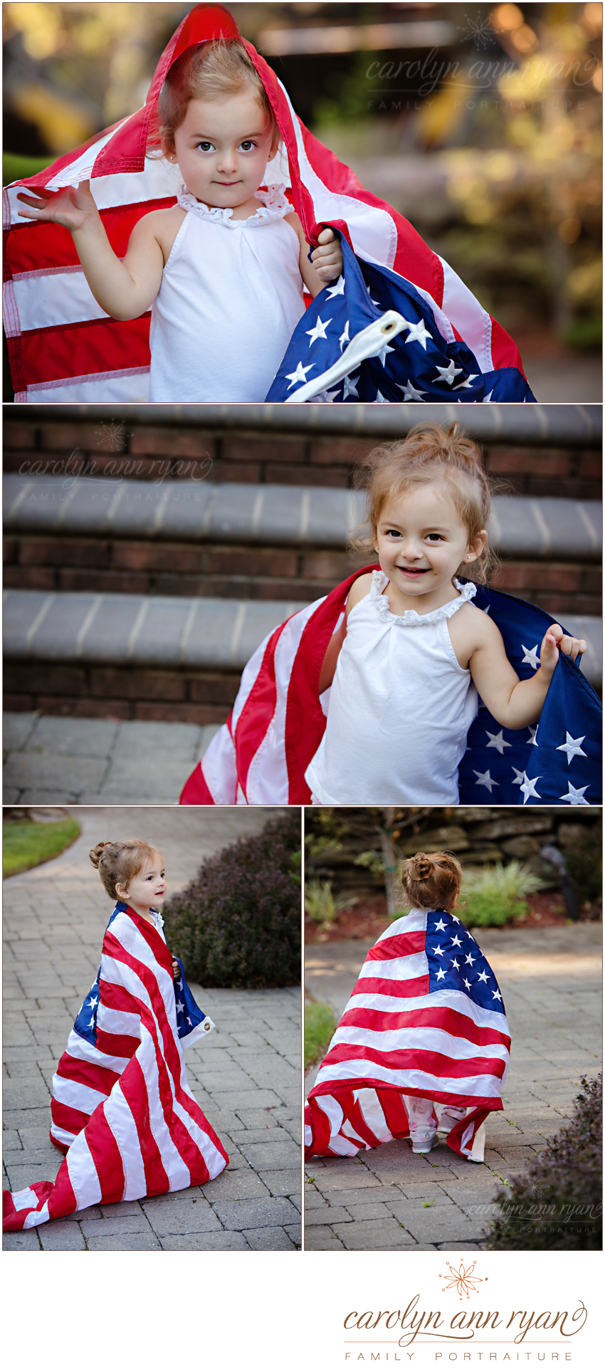 Charming Waxhaw Family Portrait Session| USA Patriotic Portrait Session