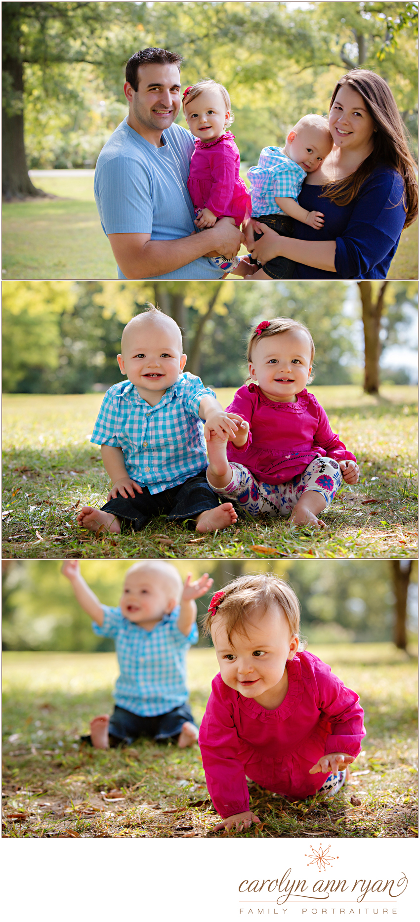 Delightful Waxhaw, NC Family Photography Twins First Birthday Portraits