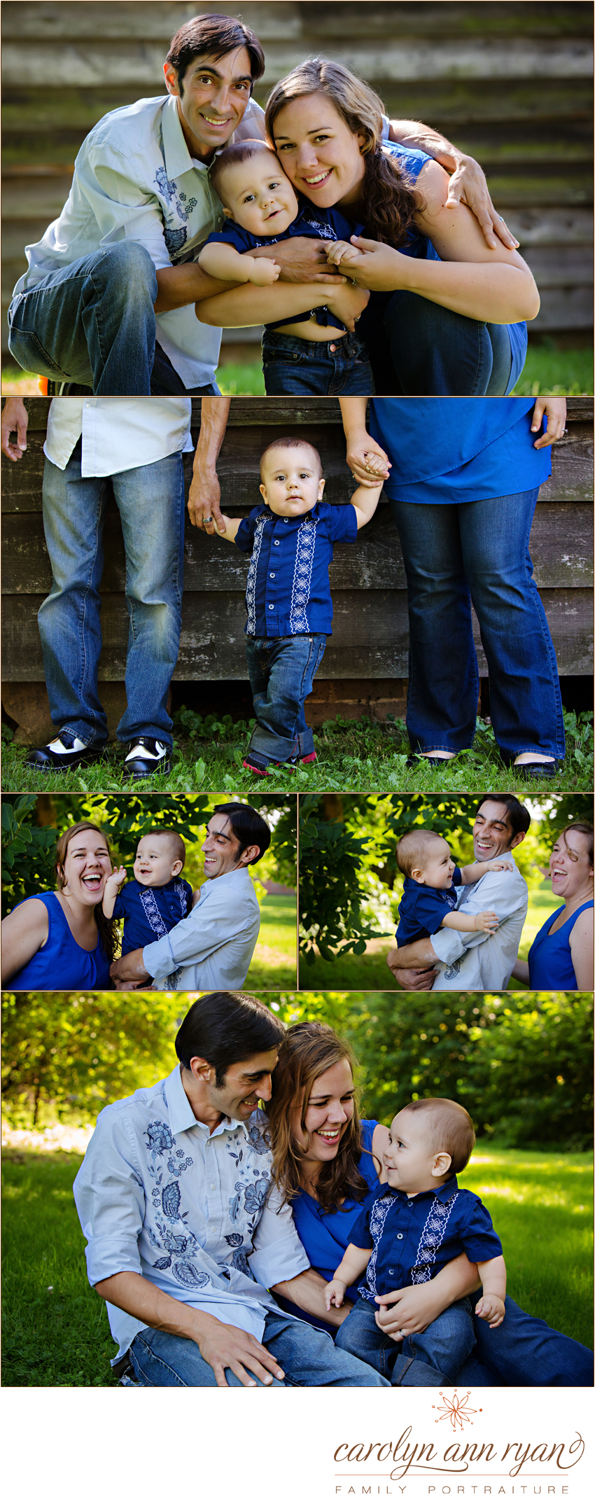 Weddington, North Carolina Child and Family Photographer Carolyn Ann Ryan captures portraits of an adorable family