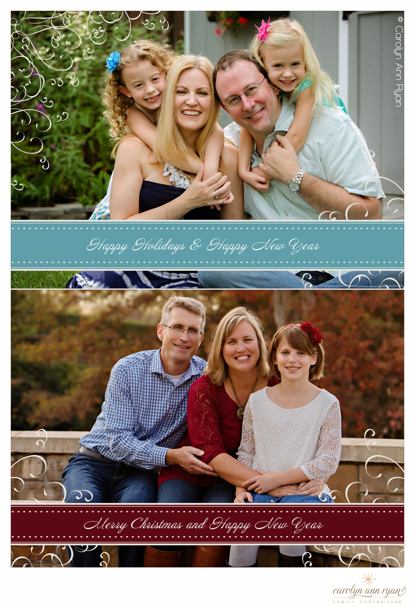 Holiday Card Designs highlighting Stylish Charlotte NC Family Photography