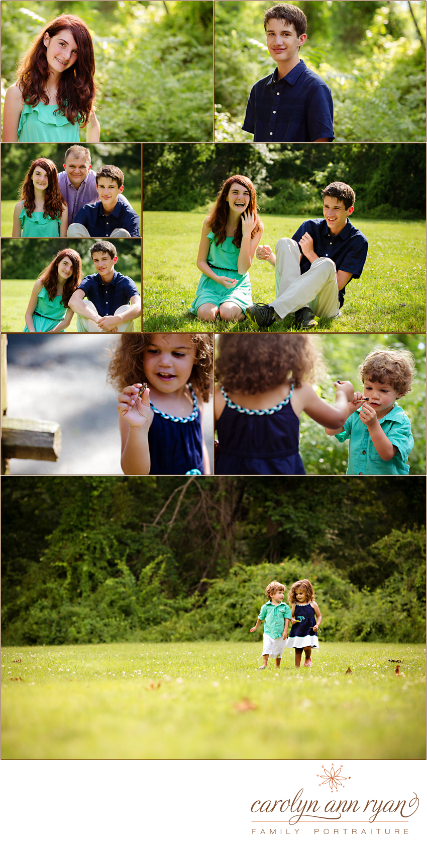 Summer Portraits in Marvin, NC with North Carolina Family and Child Photographer Carolyn Ann Ryan.
