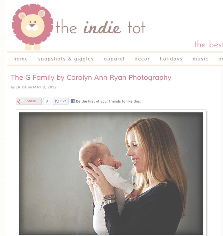 North Carolina Family Photographer | Published! {The Indie Tot}