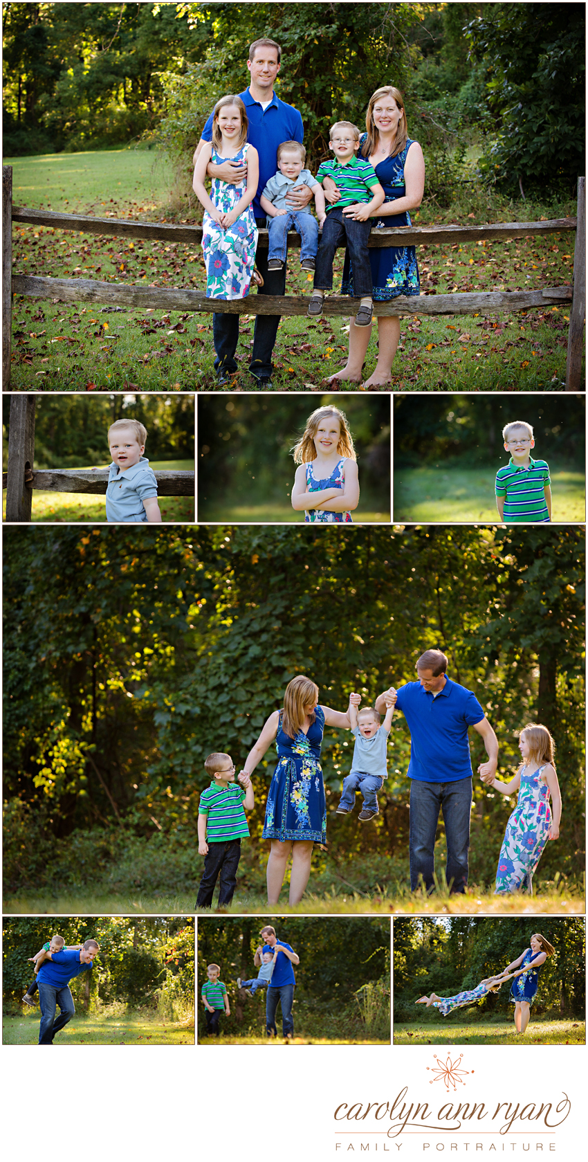 Charlotte, NC Family Photographer Fall Family Portraits
