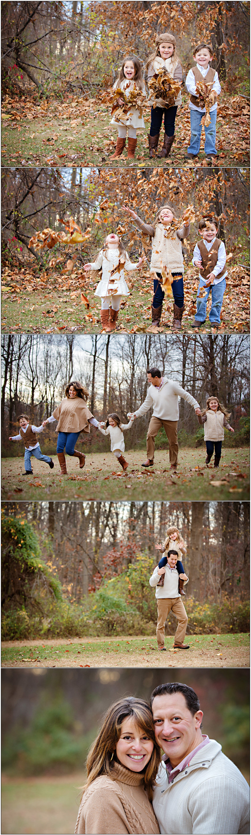 Playful Charlotte, NC Family Portraits in Autumn
