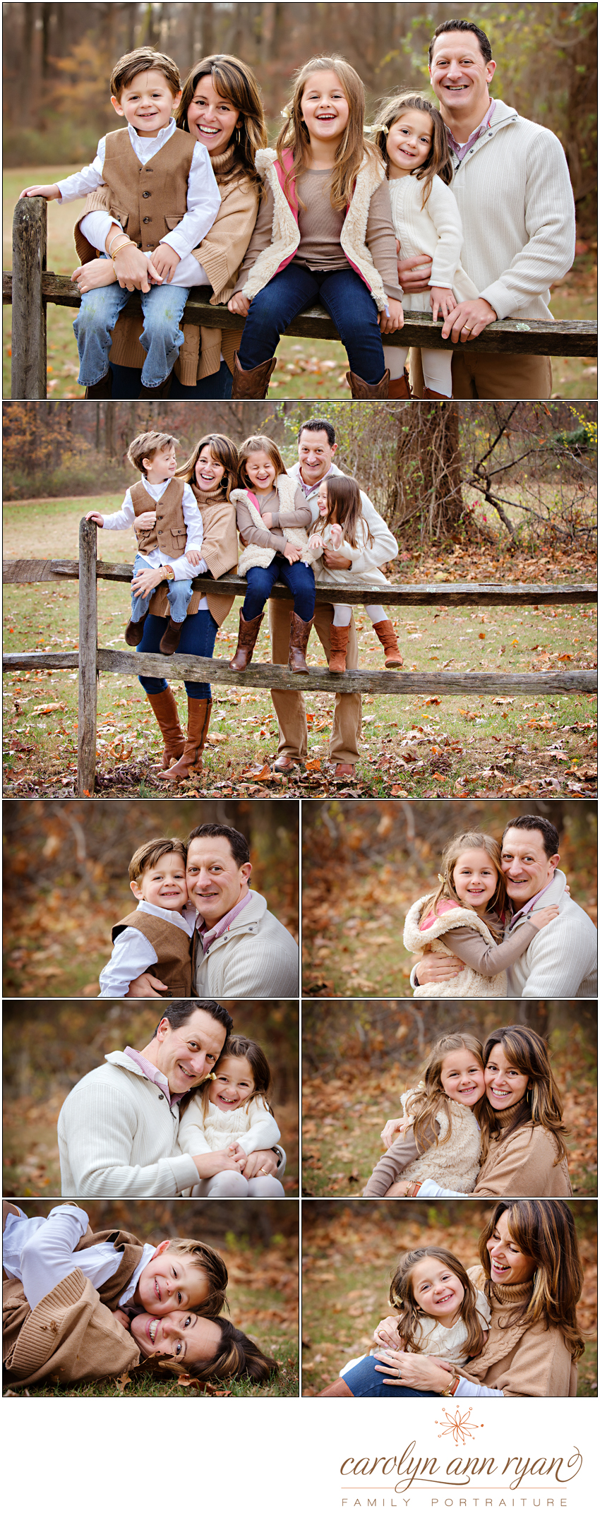 Charlotte, NC Family Photographer Carolyn Ann Ryan photographs playful and fun family portrait sessions